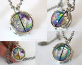 Bohemian Jewelery Festival Fashion Rainbow Glass Pendant