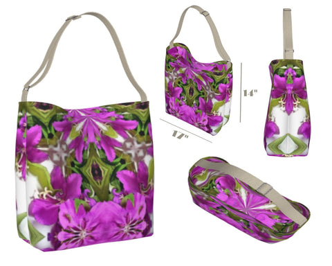 Stretchy Botanical Printed Tote Bag