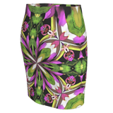 Short stretchy skirt in a bright floral all over print for the modern woman.