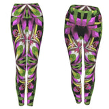 Bright print festival style leggings for costume and everyday