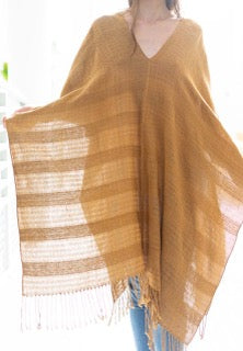 * BACK IN STOCK * unisex poncho sandalwood