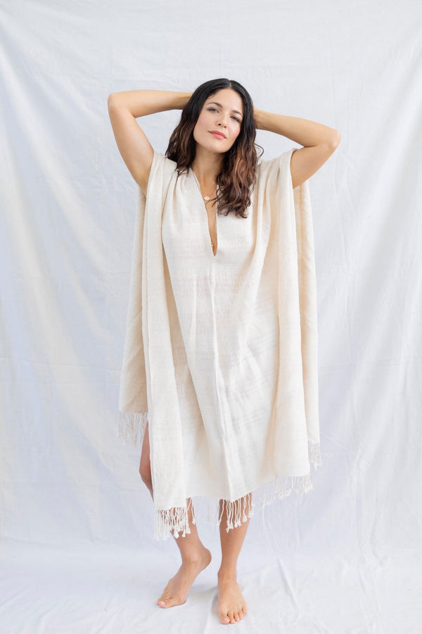 * BACK in STOCK * hand-loomed unisex poncho