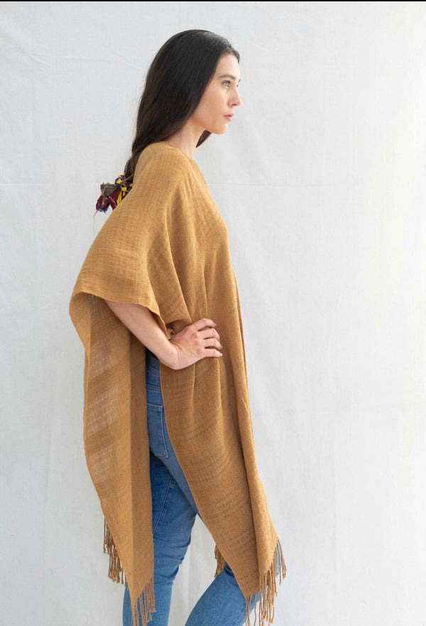 hand-loomed unisex poncho