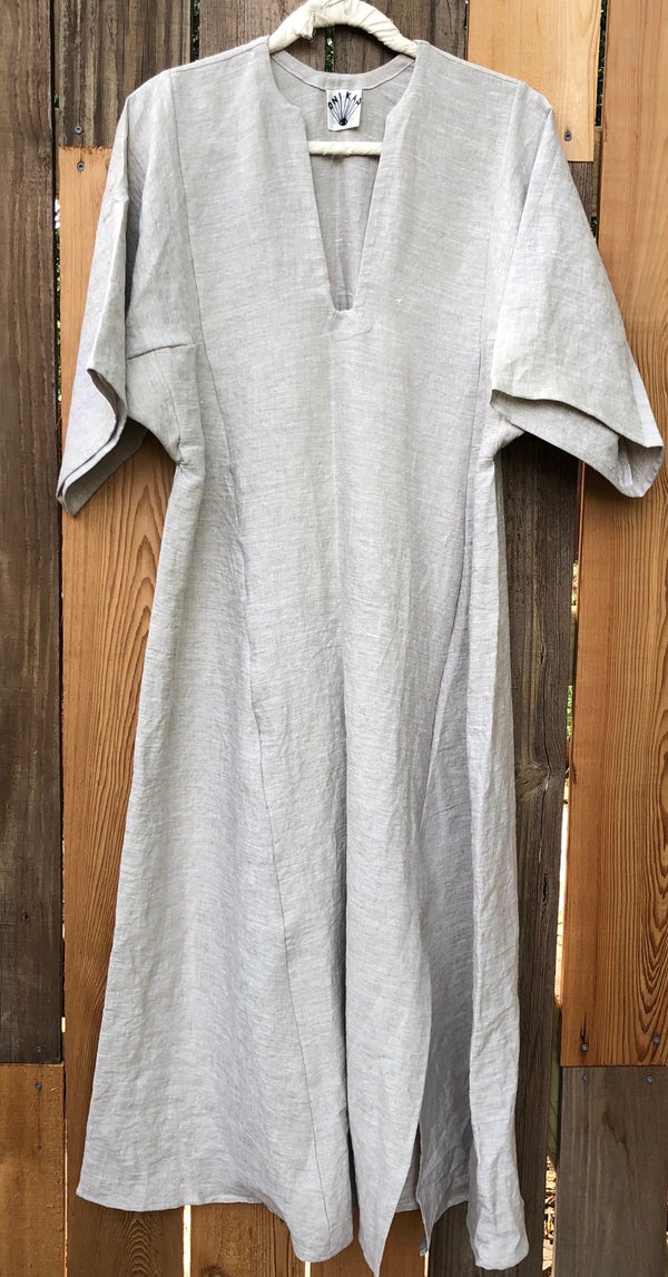 linen caftan khaki - made to order