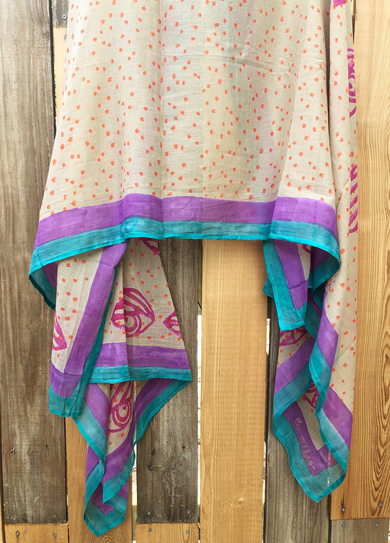 * sale * block-printed scarf/pareo