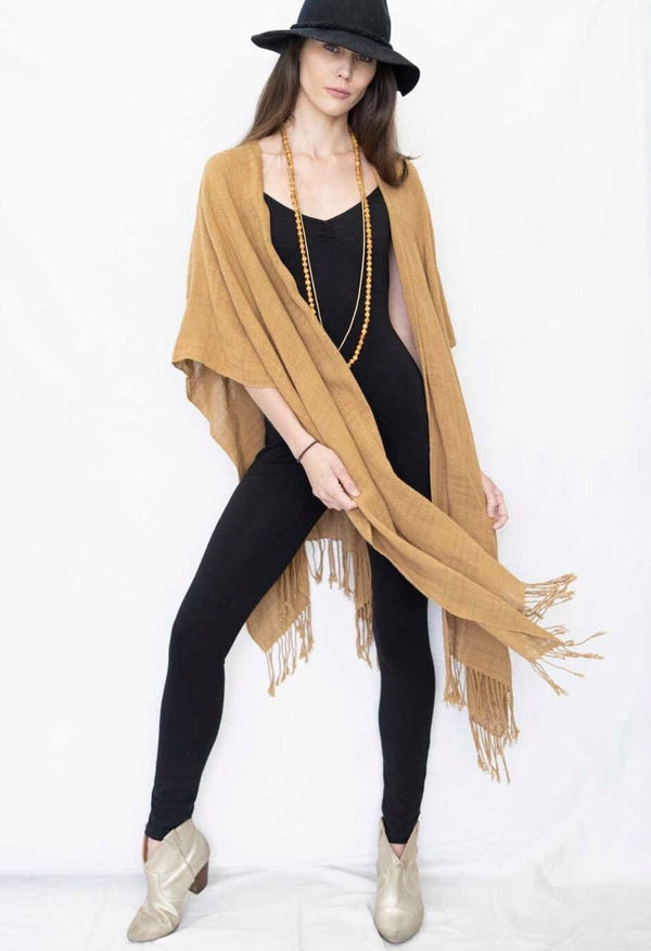 * BACK IN STOCK * open poncho sandalwood