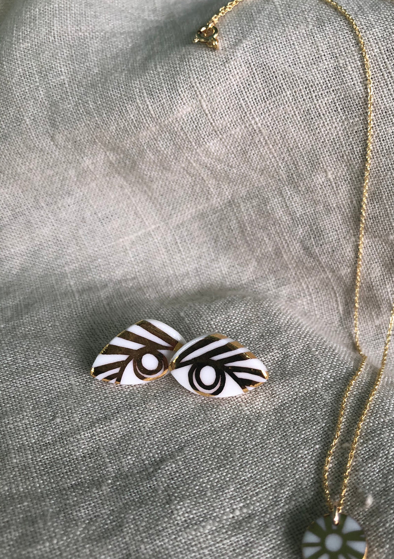 onikas jewelry - third eye earrings