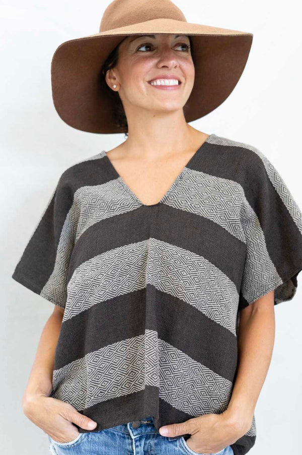 *SALE* cropped poncho