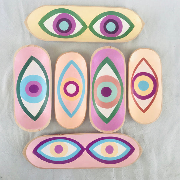 * NEW * painted wooden trays