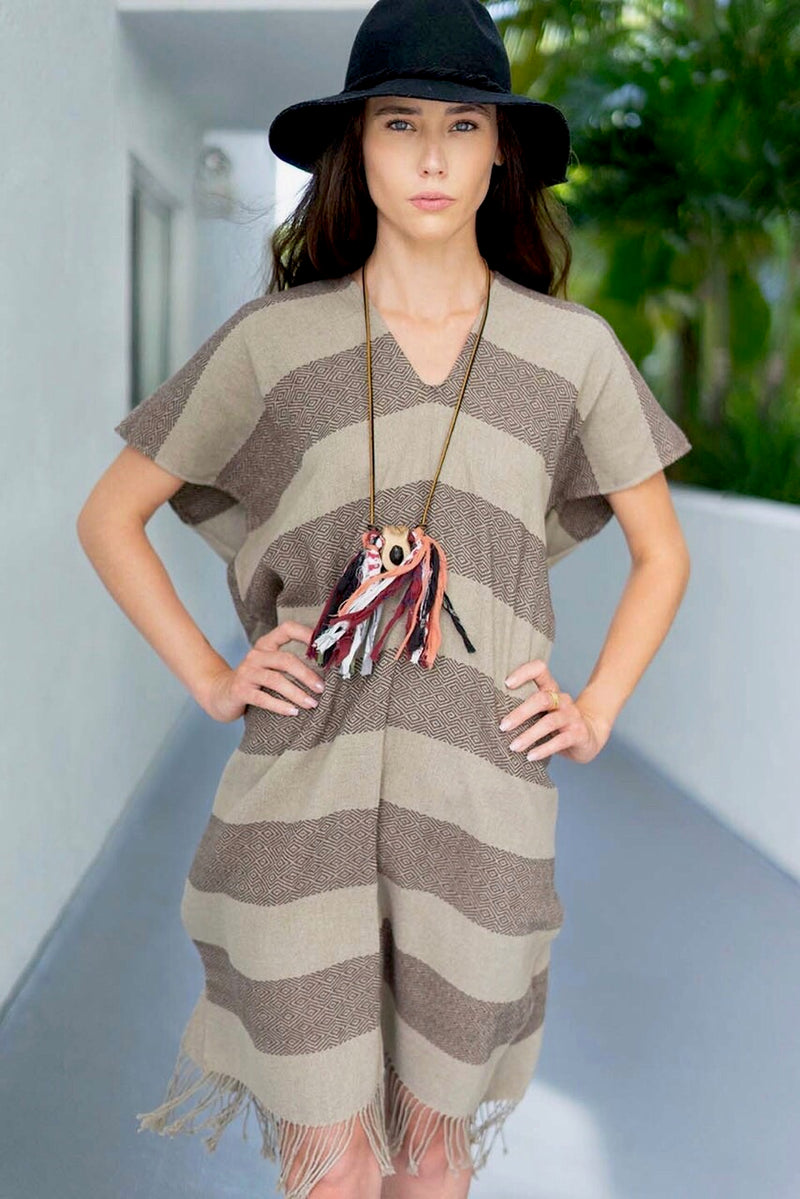 * SALE * striped poncho tunic