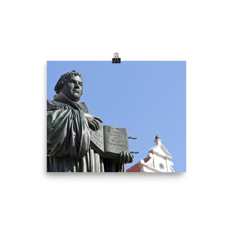 Photo paper poster - Martin Luther