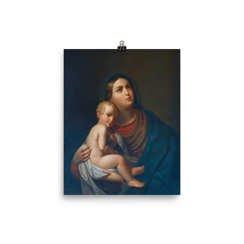 Photo paper poster - Mary and Jesus