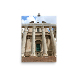 Photo paper poster - With Temple of Antoninus and Faustina in Rome