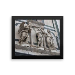 Framed photo paper poster - Baptistery of Saint John (Florence, Italy)