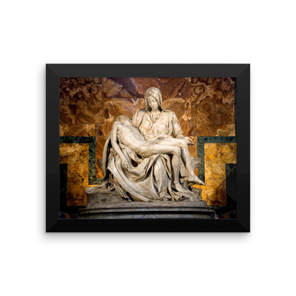 Framed photo paper poster - Michelangelo's Pieta