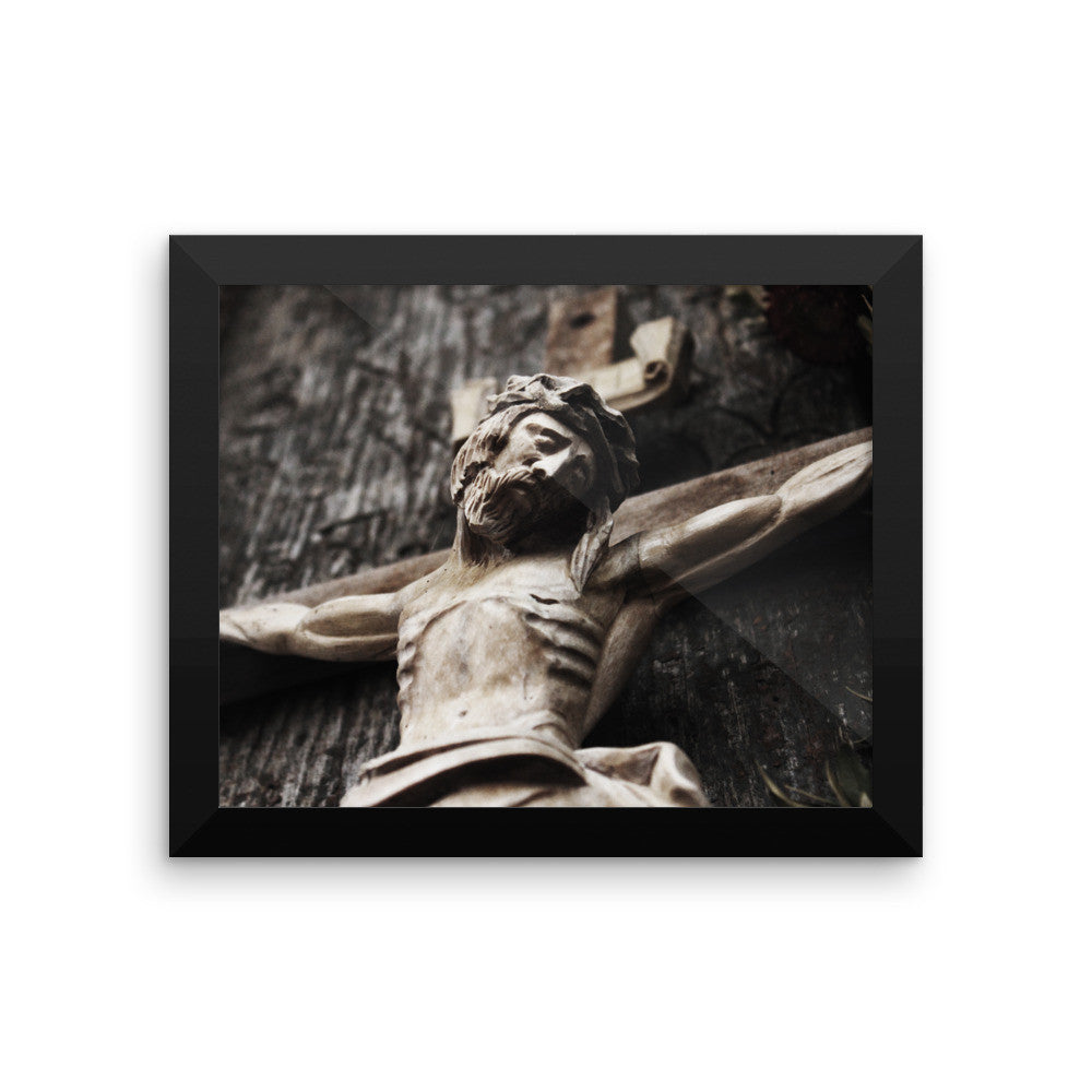 Framed photo paper poster - Christ Crucified
