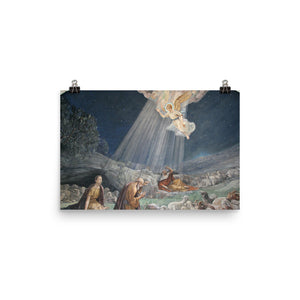 Photo paper poster - with Angel Announcing Jesus' Birth