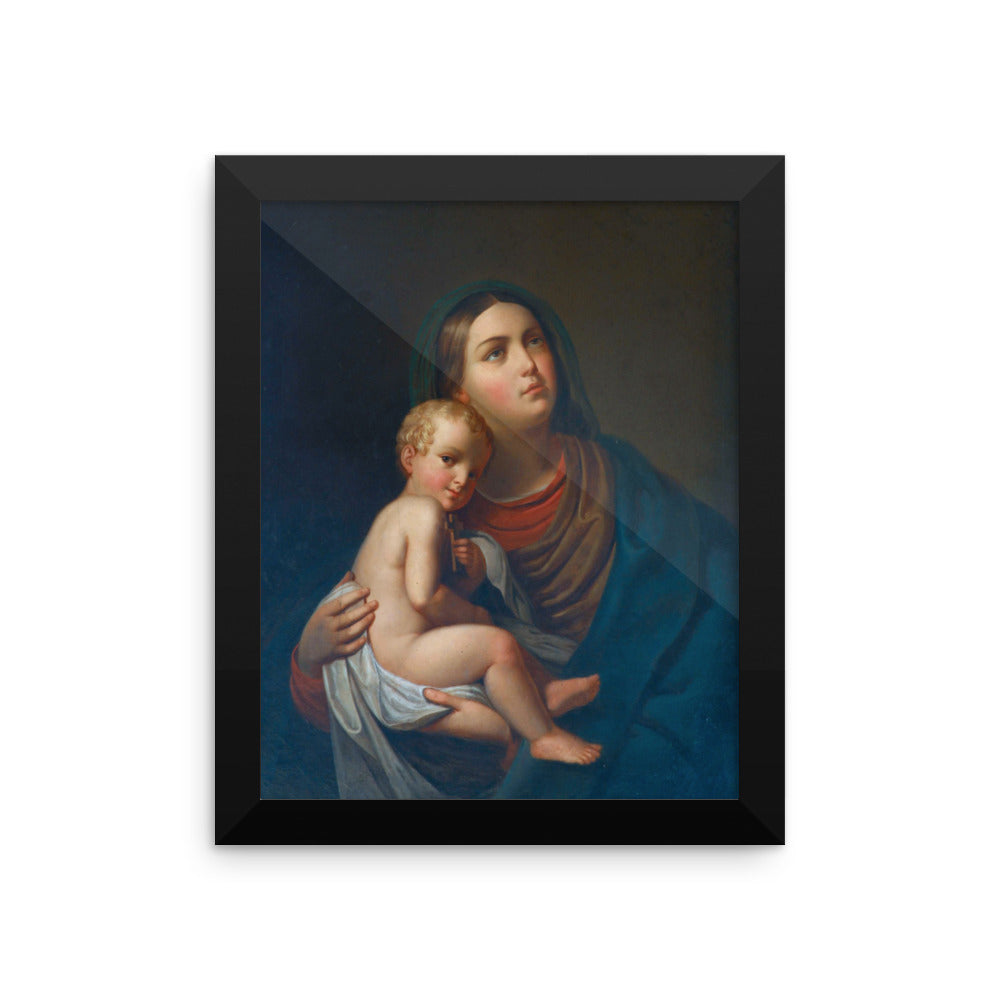 Framed photo paper poster - Mary and Jesus