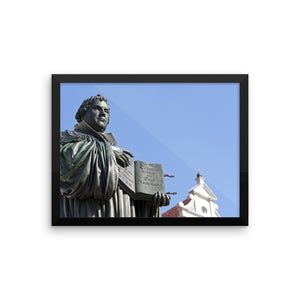 Framed photo paper poster - Martin Luther