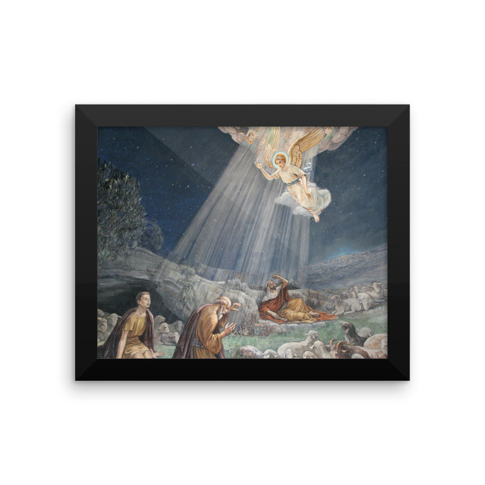 Framed photo paper poster - with Angel Announcing Jesus' Birth