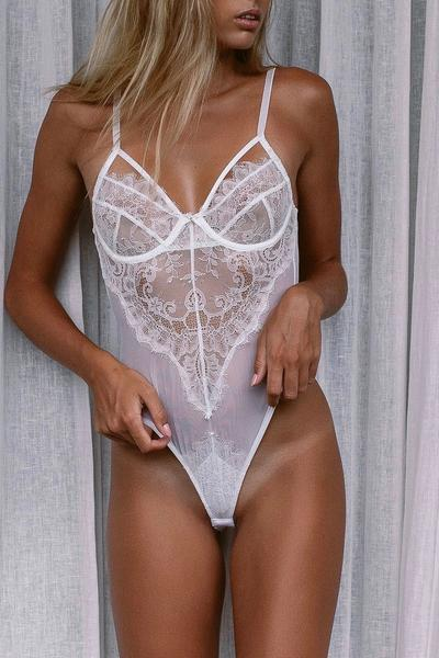 One Love White Bodysuit