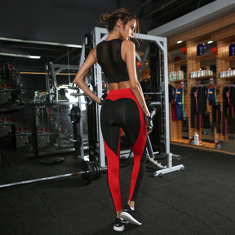 Heart Pattern Active Leggings