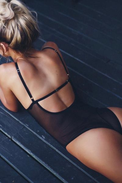 One Love Black Bodysuit - Avalon88