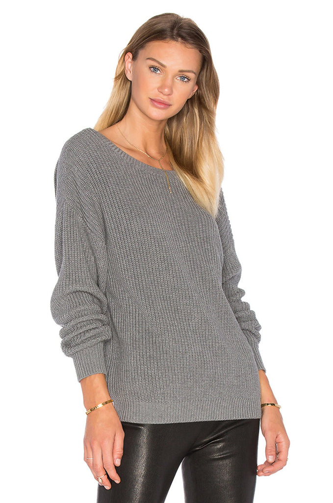 Backless Pullover Knit Sweater - Avalon88