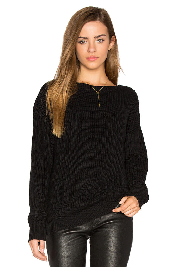 Backless Pullover Knit Sweater