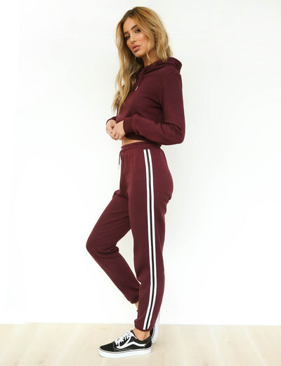 Plum Hoodie Tracksuit and Sweatpant Set - Avalon88