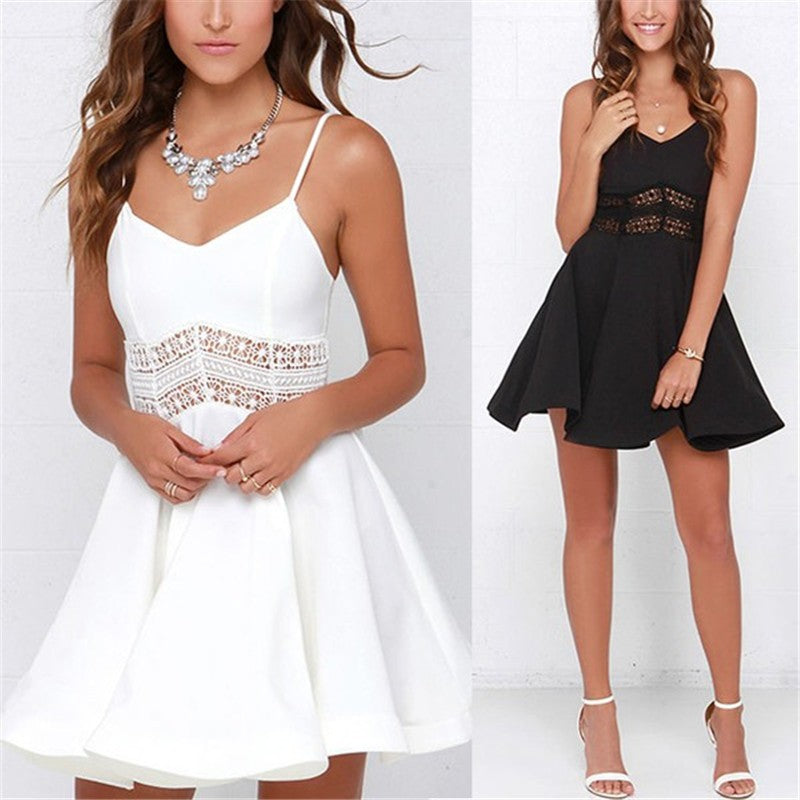 Crochet Flare Party Dress
