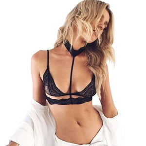 Black Lace Choker Bralette - Avalon88