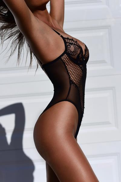 Uncovered Black Bodysuit