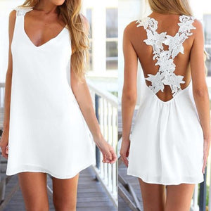 Flowerbomb White Dress