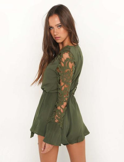 Red Lace Playsuit - Avalon88