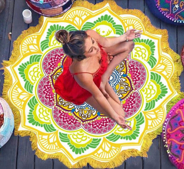 Mandala Flower Multicolor Tapestry