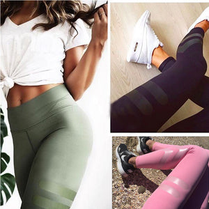 High Waist Sporty Workout Leggings - Avalon88