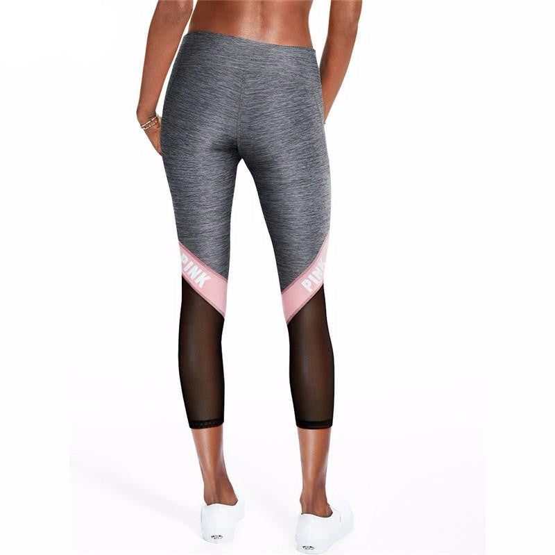 Gray Mesh Active Leggings - Avalon88