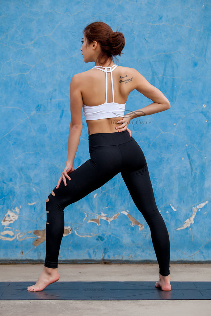 High Waist Cut Out Active Leggings - Avalon88