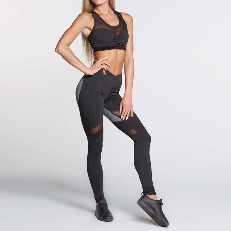 Accented Back Detail Active Leggings - Avalon88