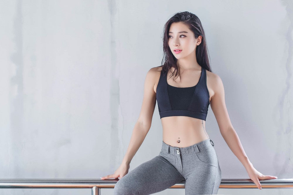 Hollow Out Back Sports Bra