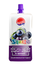 SUNGLO 120G SQUEEZE SMOOTH BLACKCURRANT YOGHURT