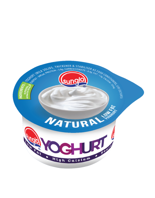 SUNGLO 90G NATURAL LOW FAT YOGHURT