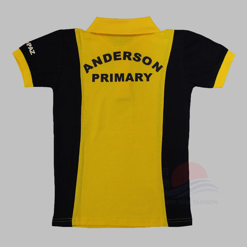 ADPS Yellow PE T-Shirt (Back view)