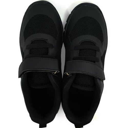 Black Velcro school shoes top view