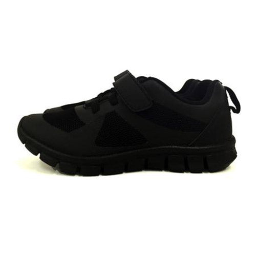 Black Velcro school shoes first view