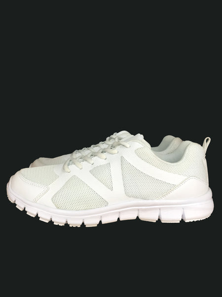 White lace school shoes