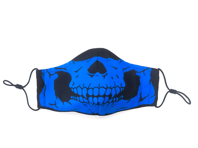 Skull Mask Blue Black