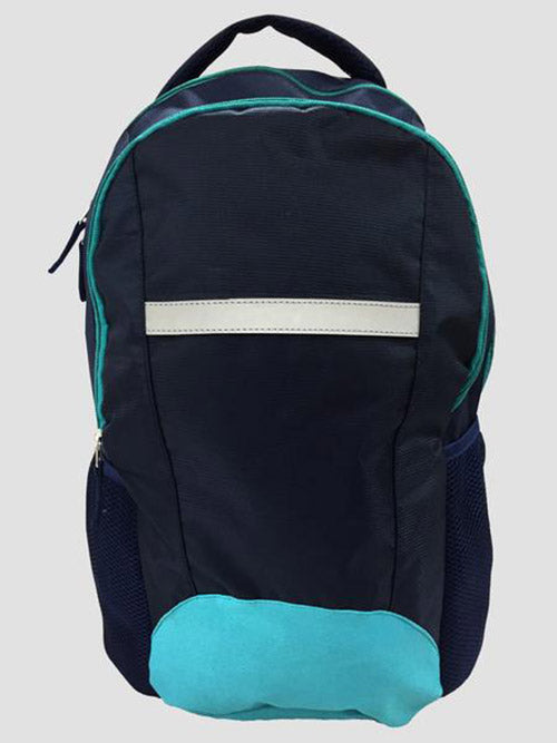 Teal school bag front view