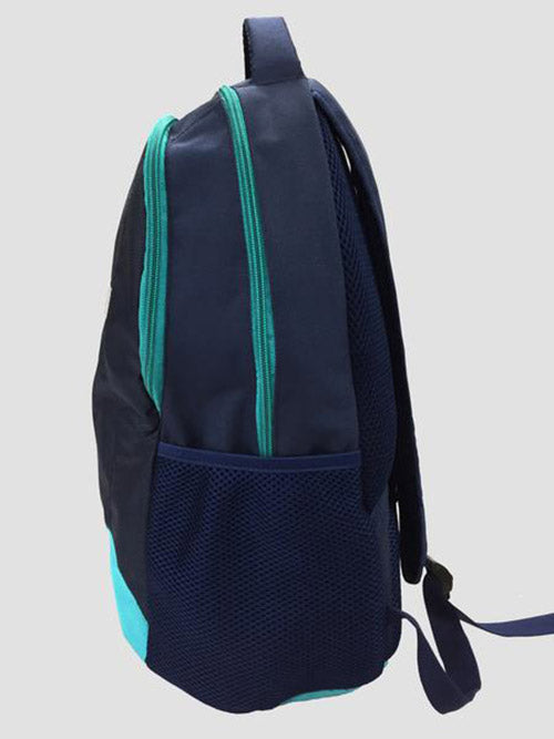Teal school bag side view